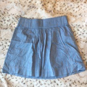 J. Crew blue mini with pockets